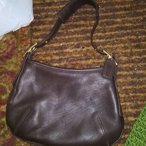 Coach small hobo brown handbag